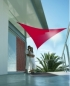 Voile triangulaire 3.60 m Rouge tomate
